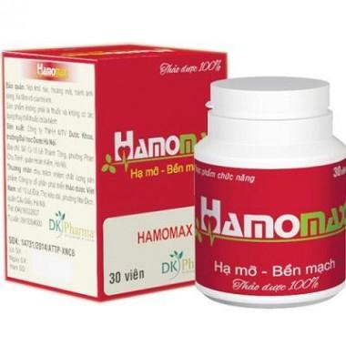 Thực phẩm chức năng Hamomax – Hạ mỡ, bền mạch