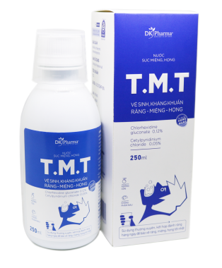 NƯỚC SÚC MIỆNG HỌNG T.M.T (ANTIBACTERIAL AND CLEANING TEETH - MOUTH - THROAT)