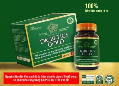 Viên tiểu đường DK-BETICS GOLD (Hộp 2 lọ x 60 viên)